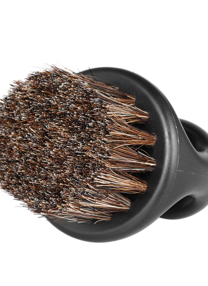 Cepillo de la barba de los hombres Cepillo de barrido del pelo del barbero Cepillo de afeitar del bigote Cepillo de la brocha de cara del cuello para el hogar del salón de la peluquería