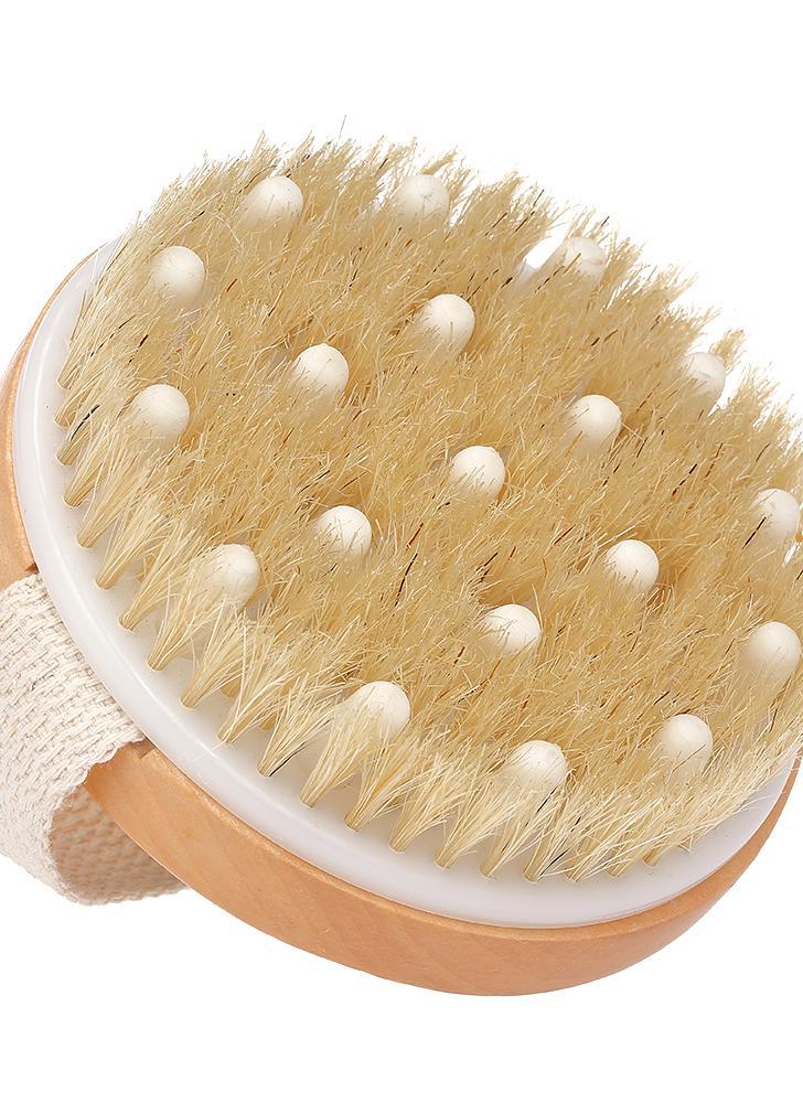 Cepillo de limpieza del cepillo del cuerpo seco para la ducha Cepillo de masaje de la ducha del cepillo de la ducha