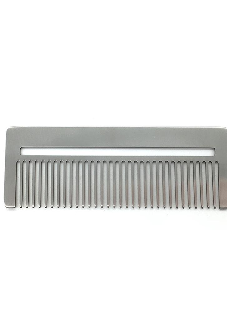 Stainless Steel Comb Metal Hair / Beard Comb Multifunctional Mini Comb Anti-static Beard Mustache Shaving Comb