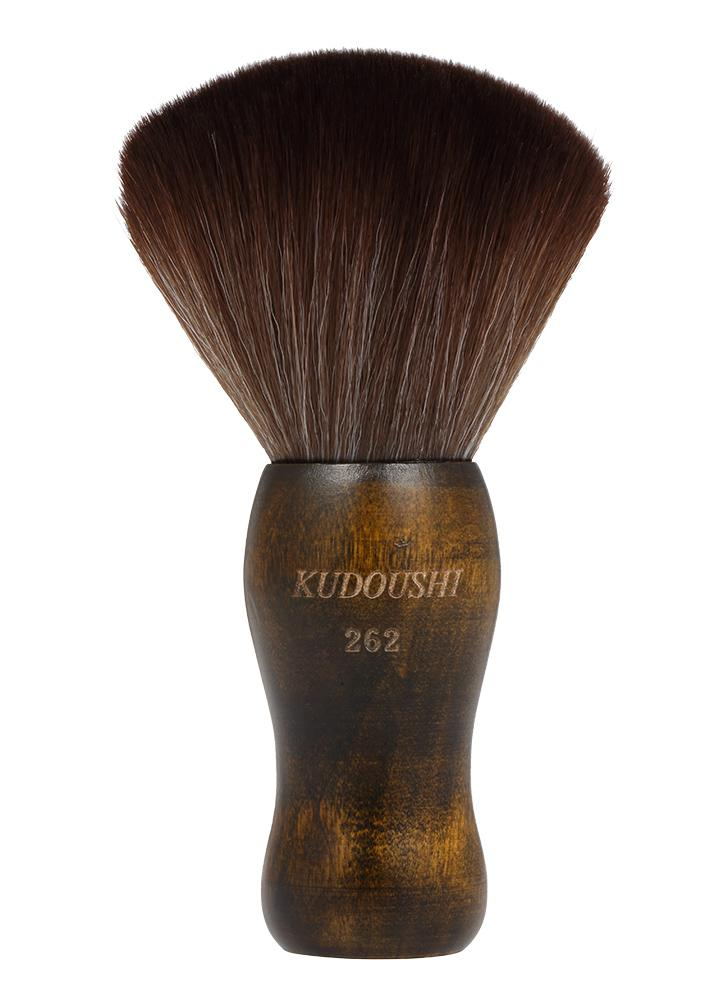 KUDOUSHI Professional Largr Hair Cutting Neck Duster Escova de punho de madeira