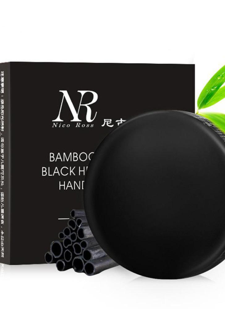 NR Rosto Soap Sabão De Carvão De Bambu Profundamente Limpo Controle de Óleo Acne Faciais Sabão Feito à Mão Soap Cleanser Facial Sabão de Lavagem