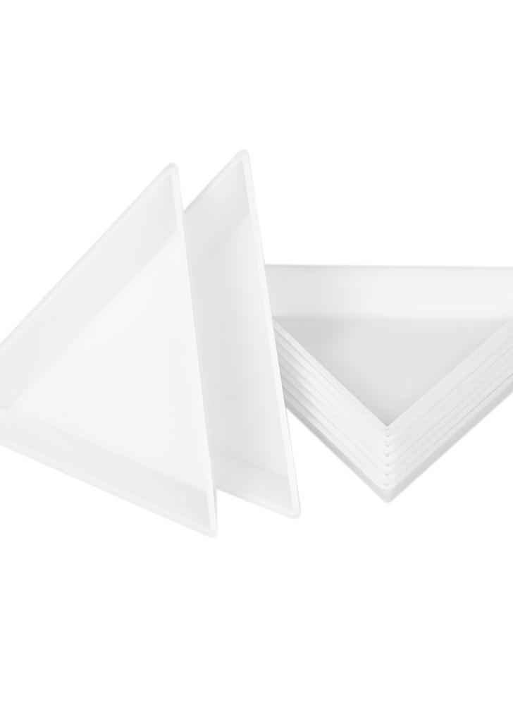 10Pcs Nail Triangular Plate Nail Art Storage Display Placa Adesivos de perfuração Caixa de armazenamento Diamond Rhinestone Drill Box DIY Nail Art Accessory
