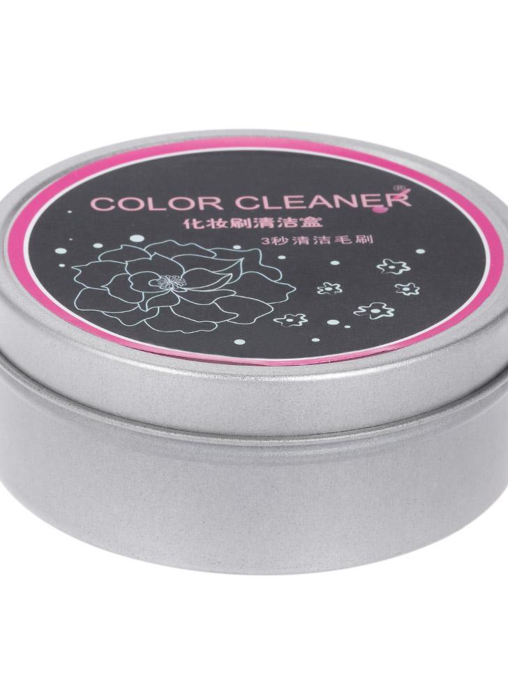 Maquillaje Cepillos Colores Eliminación Esponja Caja Herramienta Rápido Limpiador Polvo Seco Sombra Eliminar Al Instante