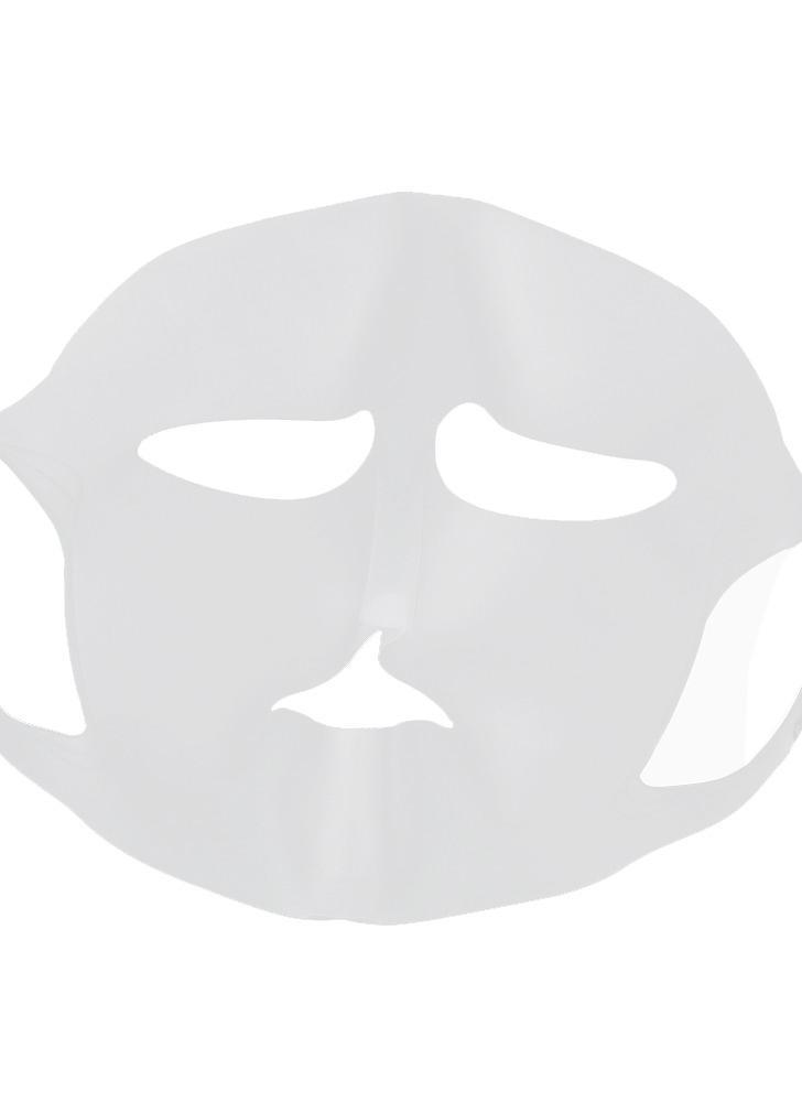 Masque réutilisable de masque de silicone de 1Pc Masque facial hydratant de silicone Masque multifonctionnel pour le masque de feuille empêchent l'évaporation avec les boucles d'oreille anti-glissement