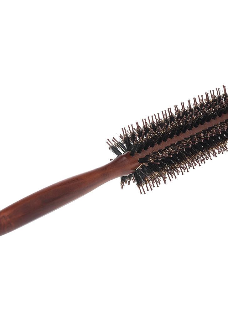 Pettine in nylon con spazzola rotonda Spazzola a pettine con manico antiscivolo Pettine rotondo per capelli lisci e arricciacapelli