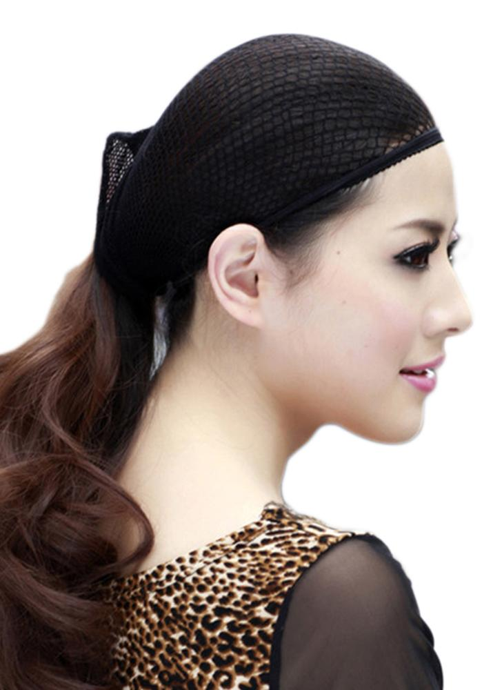 Black Hair Net Weaving Net Black Elastic Strethable Wig Cap Mesh