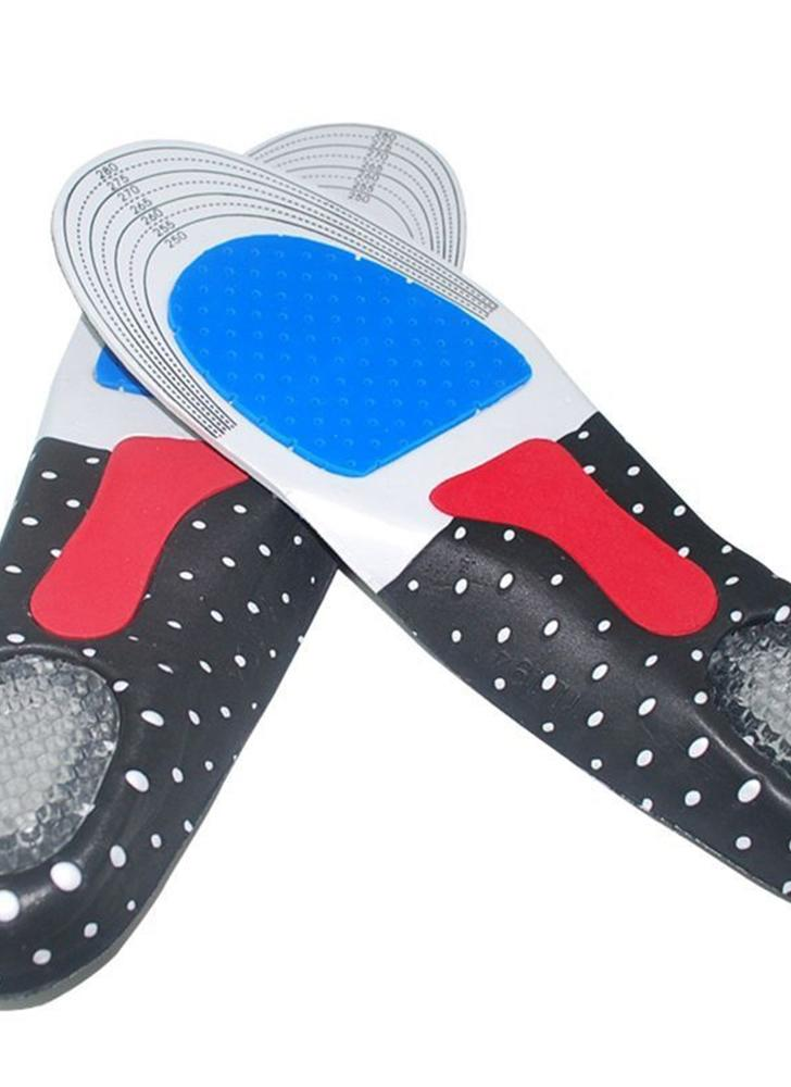 Homens Gel Orthotic Sport Running Insoles Inserir Shoe Pad Arch Support Coxim