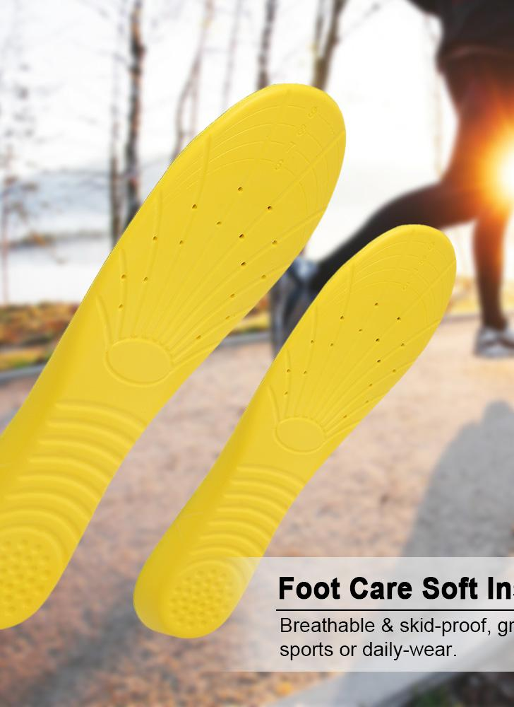 Soft Insoles Professional Cushion Foot Care Shoe Inserts Pad Shoe Gel Cool Deodorant Orthotic Silicone Insoles