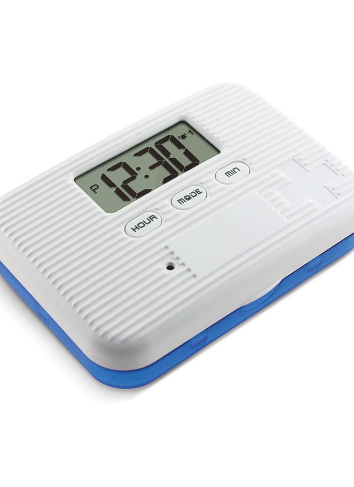 Organisateur de pilule à l'épreuve de la poussière Séparé Boîte à pilules Boîtier électronique Minuterie Alarme Reminder Distributeur de médicaments