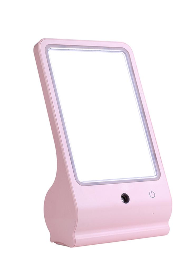 New USB LED maquiagem cosméticos Espelho Senhor Pulverizador Nano Facial Moisture Steamer Umidificador Nano-spray de moda da mulher da menina do medidor de água portátil da senhora por Office Home Trabalhar Viagem