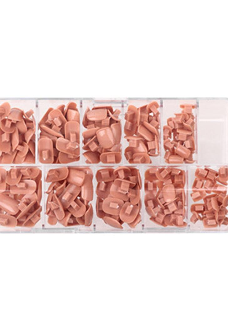 200pcs / pack 10 tamanhos Falsos falsos Nails Dicas Box for Flexible Practice Model Training Hand Nails DIY Art Salon