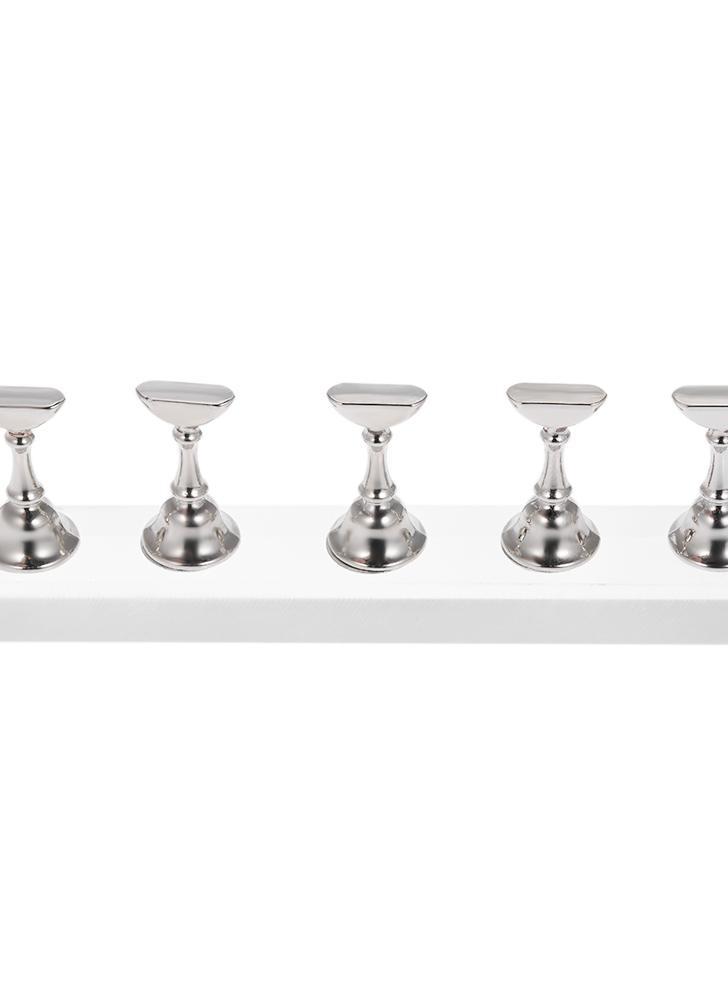 5 unids / set Extremidades magnéticas del clavo sostenedores del soporte de cristal de acrílico de largo soporte de la práctica de visualización de herramientas de manicura