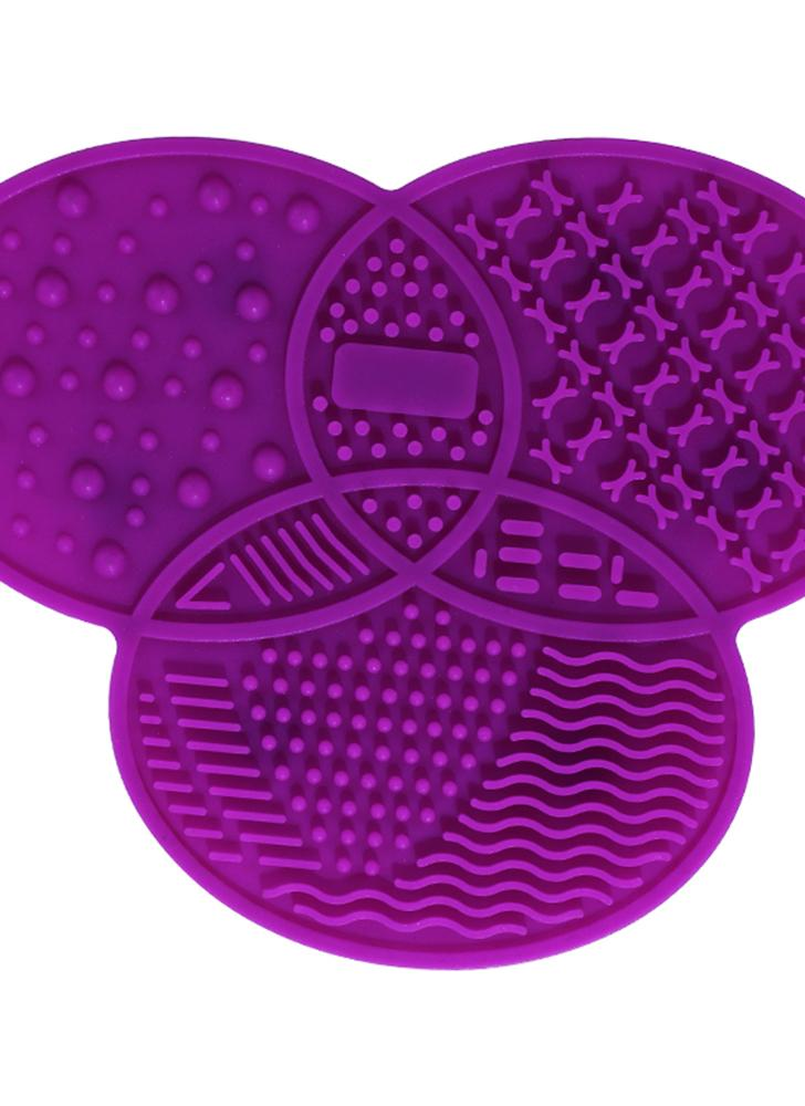 Silicone Cosmetic Make Up Washing Gel Cleaning Mat Foundation Makeup Brush Cleaner Pad Scrubber Board