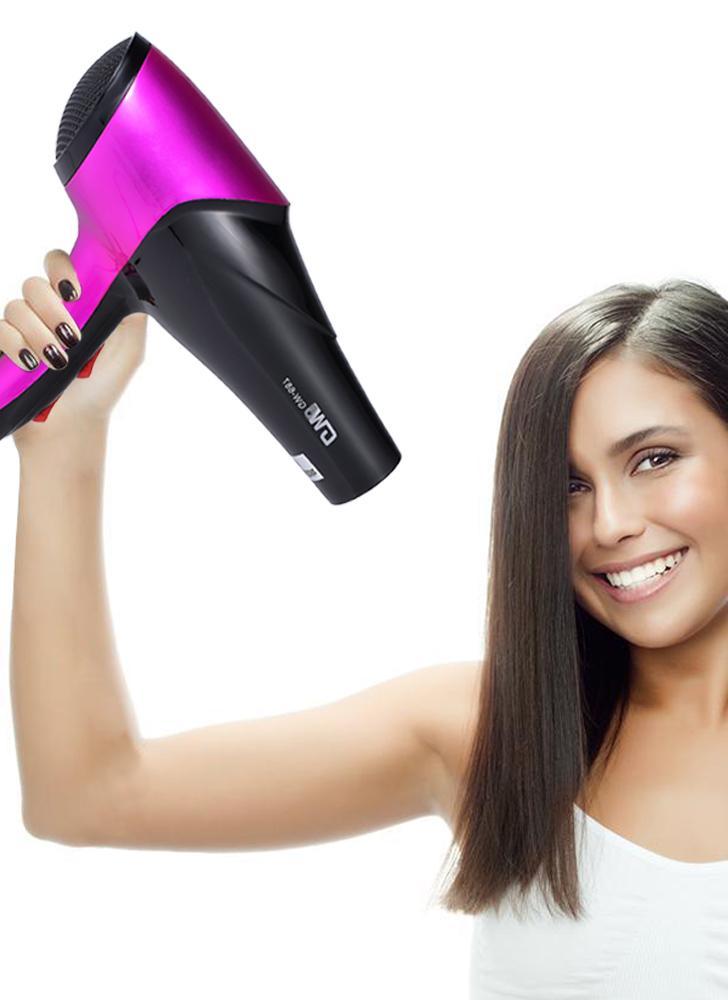 Pro secador de cabelo sopro de cabelo com difusor de bocal e dedo para cabeleireiro salão pessoal ferramentas de cabeleireiro EU Plug