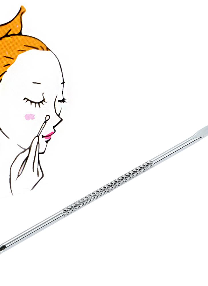 Aço inoxidável cravo comedones Facial Acne limpeza pontas duplas aço inoxidável espinha & Blackhead Remover Acne extrator removedor ferramenta ferramenta de segurança