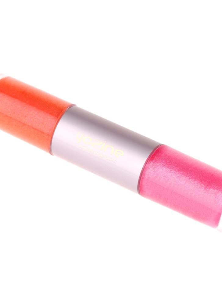 2 em 1 incrível cores impermeável Lip Gloss vitamina batom caneta cosméticas para mulheres