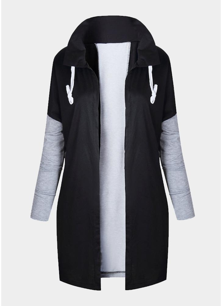 Langer sweatshirt mantel