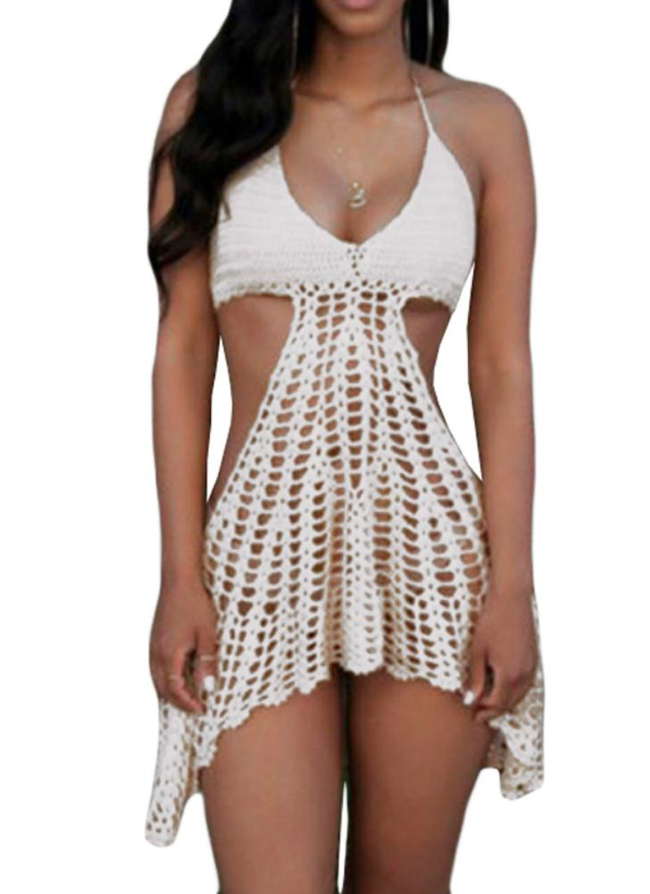 Crochet Bikini Top Cover Up Dress