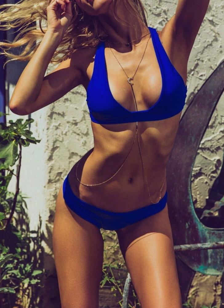 Cross Back Padded Brief Bikini
