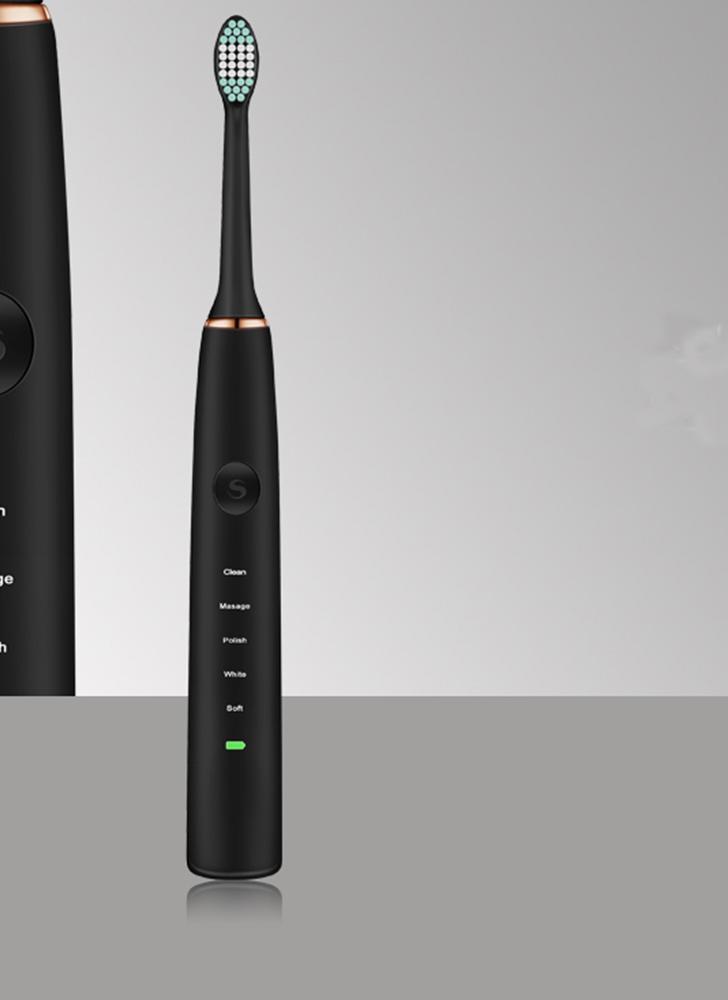 Cepillo de dientes eléctrico ultrasónico para mujeres adultas Hombres 5 modos de limpieza Cepillo de dientes eléctrico de carga USB