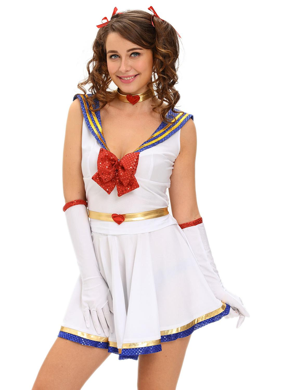 a5d58beee174 5pcs Anime Sailor Costume Heroine