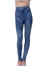 Новая мода Женская сексуальная близорукая имитация джинсовой джинсовой одежды