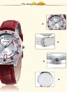 Vintage High Quality Fashion Quartz Bling-bling Rhinestone Embedded Women Watch