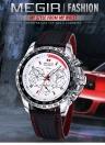 MEGIR Luxury Casual Sports Marca Quartz relógio impermeável relógio de pulso dos homens