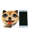 Novo bonito mulheres moeda bolsa cara Animal cabeça cão dos desenhos animados impressão Zipper encerramento carteira Mini pequeno saco de embreagem