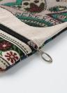 Sacchetto trasversale della borsa delle donne della chiusura lampo della stampa dell'elefante di Retro della tela di canapa
