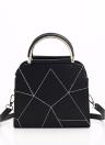 Fashion Simple Design Geometrical Line Handbag Female Women's Handbag