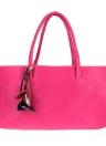 Moda mujer bolso PU cuero Color caramelo sólido flor colgante bolsillo cremallera Casual bolso bolsa