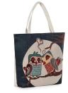 Neue Frauen-Segeltuch-Handtasche Tierblumenstickerei Jacquard Umhängetasche Große Kapazität beiläufige Einkaufstasche Tote