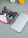 Linda moda mujeres moneda monedero gato 3D Animal cabeza imprime cola Mini monedero cremallera cierre pequeño embrague bolsa