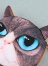 Lindo moda mulheres moeda bolsa gato 3D Animal cabeça imprime saco de embreagem pequena cauda Mini carteira Zipper encerramento