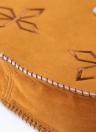 Mujeres Boho Vintage bandolera bordado borla puntada borde aleta delantera correa bandolera Casual Retro Camel