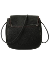 PU Solid Casual Vintage Crossbody Bag