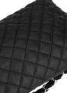 Mulheres vintage acolchoado saco de ombro PU couro retalho frontal Crossbody Envelope saco embreagem branco/preto