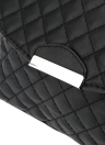 Classic Elegant Quilted Shoulder PU Leather Flap Front Envelope Clutch Bag