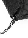 Les femmes Vintage matelassé sac à bandoulière PU cuir Rabat frontal Crossbody enveloppe sac embrayage blanc/noir