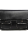 Vintage Flap PU Leather Zipper Snap Closure Double Pockets Crossbody Bag