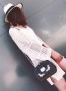 Fashion  PU Rivet Butterfly Embroidery Multi-Pockets Vintage Women's Crossbody Bag