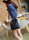 Saco de tecido sólido de moda feminina PU