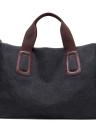 Women Large Canvas Solid Color Handbag