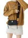 Meninas Mulheres Bolsa de ombro Crossbody Bag Mini camurça de camurça
