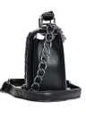 Vintage Women Chain Strap Lock Buckle PU Leather Crossbody Bag Shoulder Bags