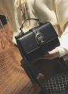 Moda feminina Bolsa de ombro PU Leather Buckle Solid Crossbody Messenger Bag
