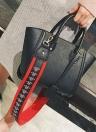 Femmes PU cuir sac à bandoulière large sac à bandoulière