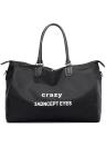 Fashion Women Letter Print Nylon Tote Shoulder Bag