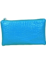 Solid Candy Color Crocodile Patent Leather Wrist Strap Clutch Bag